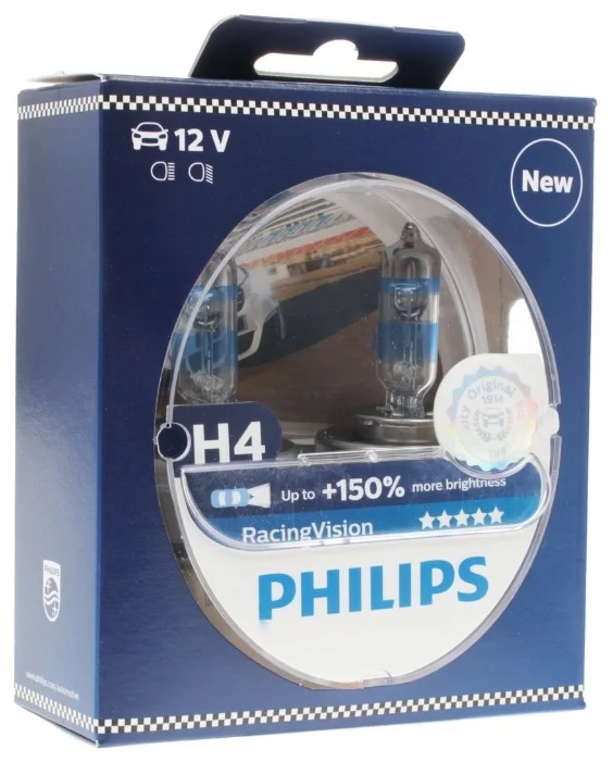 5 Philips Racing Vision 150 H4