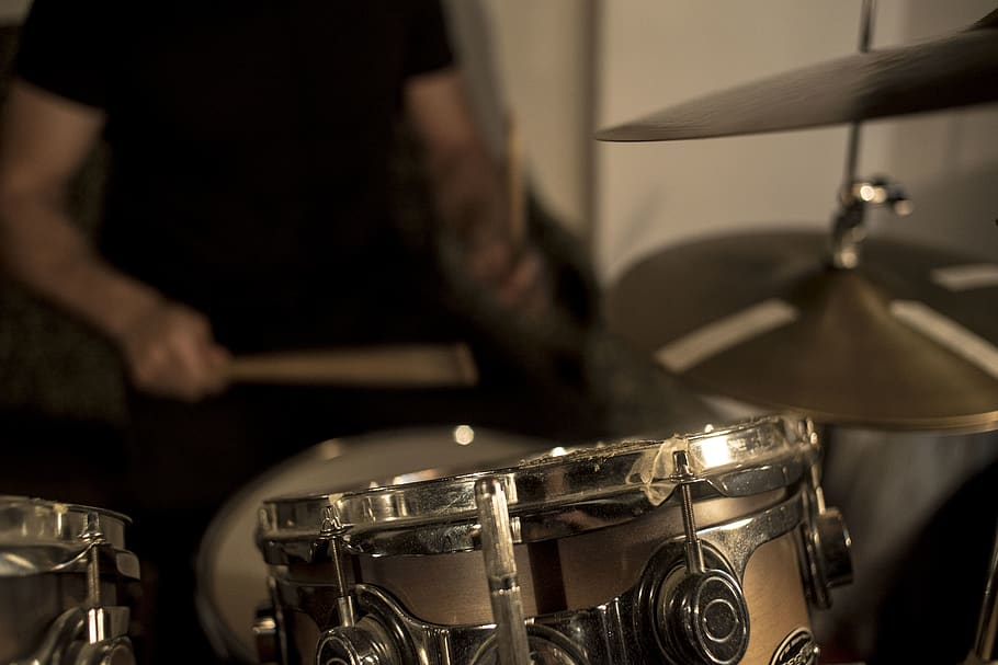 Blur Chrome Close Up Cymbal