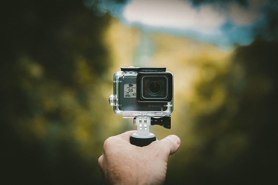 Camera Gopro Photography Adventure Travel Hand