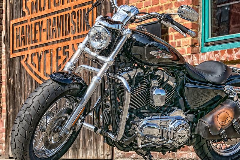 Close Up Photography Of Harley Davidson Motorcycles Cruiser Motorcycle