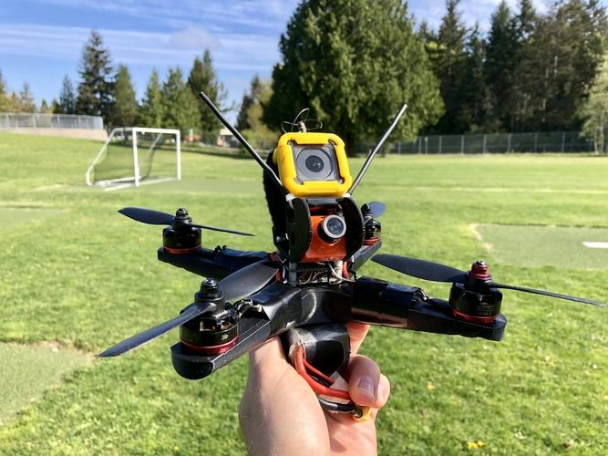Container Birdbone Helium 210 Fpv Quadcopter 3d Printing 202582