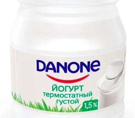 danone 458x400 - Рейтинг 5 лучших термостатных йогуртов: рейтинг, польза, какой выбрать, отзывы