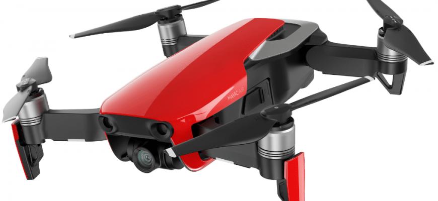 dji mavic air 870x400 - Топ рейтинг 10 лучших квадрокоптеров с камерой: скорость полета, какой выбрать, отзывы