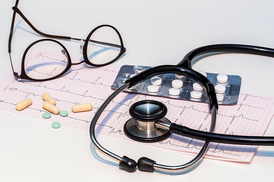 Ecg Electrocardiogram Stethoscope Heartbeat