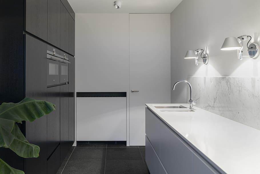 Interior Kitchen Bathroom White