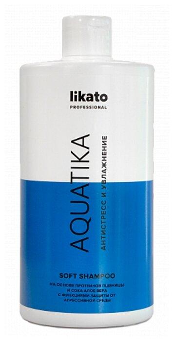 Likato Professional Shampun Soft Aquatika Antistress I Uvlazhnenie Na Osnove Proteinov Psheniczy I Soka Aloe Vera 250 Ml