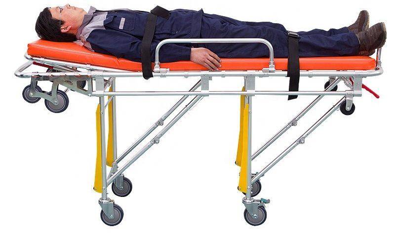 Medical Surgical Ambulance Stretcher Aluminum Wheeled Gurney E1591470603157