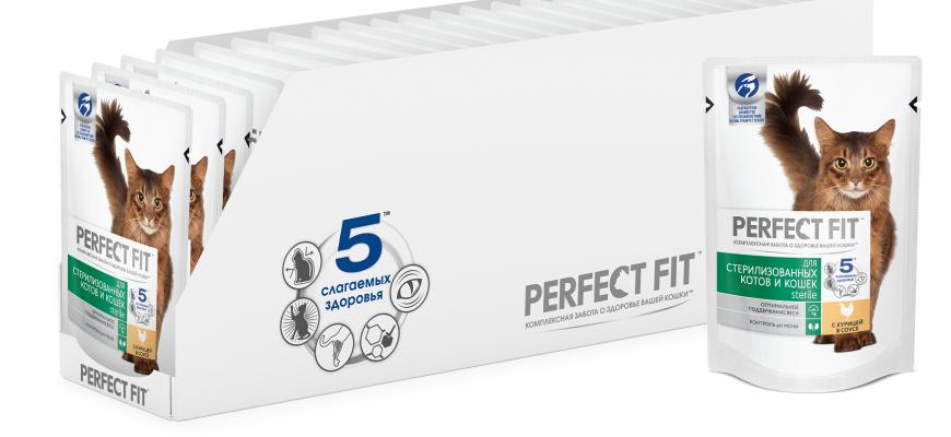 perfect fit 870x400 - Рейтинг-10 лучших влажных кормов для кошек: как выбрать, состав, отзывы