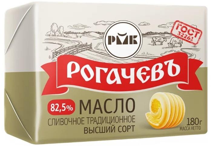 Rogachevskij Molochnokonservnyj Kombinat Maslo Slivochnoe Rogachev Tradiczionnoe 82.5 180 G