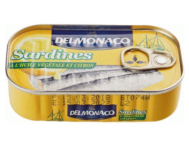 Sardiny Delmonaco V Rastitelnom Masle S Limonom